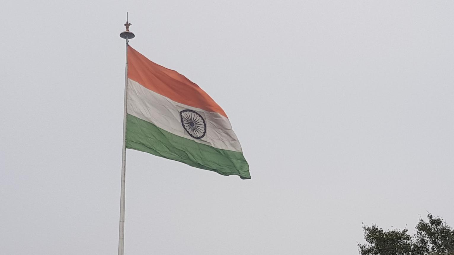 Reisekosten Indien Flagge