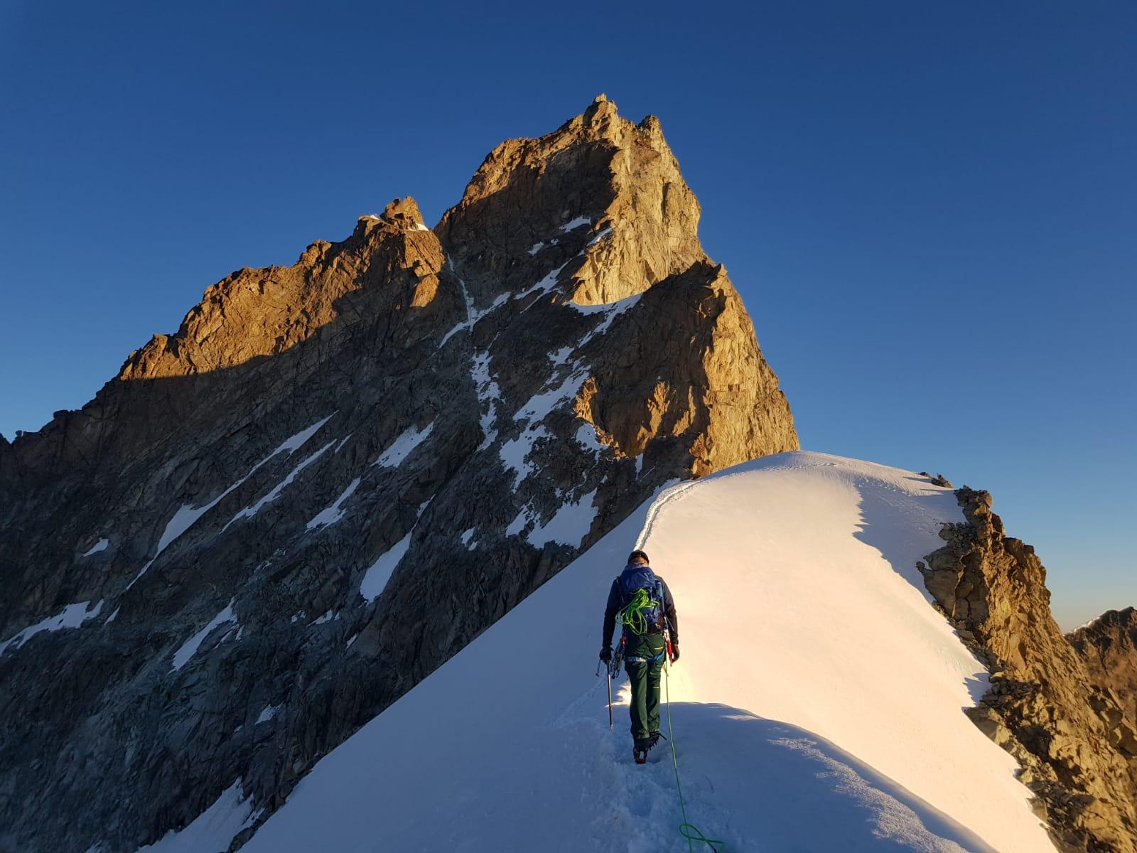 Zinalrothorn 4.221 m über'n Süd-Ostgrat (Hochtour)